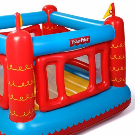 Fisher Price Bouncetastic Inflatable Castle Bouncer With Removable