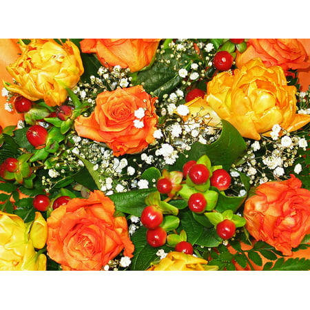 LAMINATED POSTER Bouquet Bouquet Of Flowers Bouquet Of Roses Florist Poster Print 24 x 36
