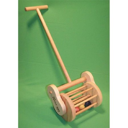THE PUZZLE-MAN TOYS W-1503 Wooden Toy - Push Pull Mower Clickity Clacker - The Candy Clacker