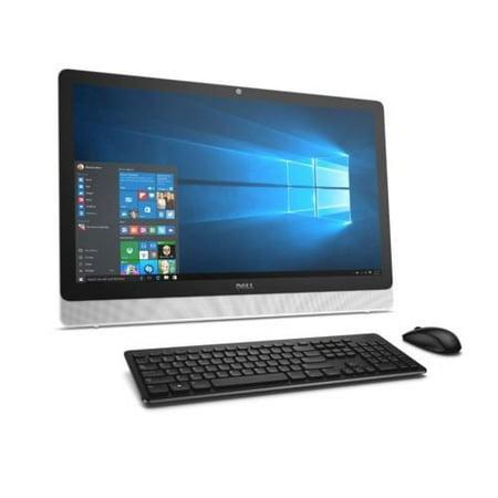 Dell 23.8 Inch Touchscreen FHD 1920x1080 All-In-One AMD A6-7310 2.3 GHz Processor 16GB Memory 1TB HD 802.11bgn Bluetooth 4.0 USB 3.0 USB 2.0 DVD HDMI Windows 10 White Bezel with SIlver Easel Dell 1.9 Ghz Processor