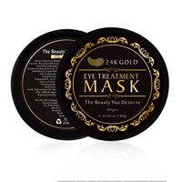 24k Gold Eye Mask with Collagen Under Eye Patches, Dark Circles Under Eye Treatment, Under Eye Bags Treatment, Eye Mask for Puffy Eyes, Anti-Wrinkle, Undereye Dark Circles-30 Pairs