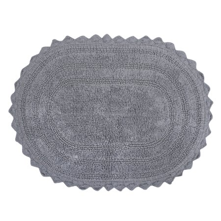 Design Imports Oval Crochet Bath Mat, Small, 100% Cotton, Multiple -