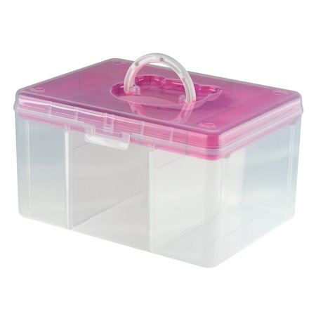 Hobby & Crafts Portable Storage Box - Pink(Pack of 6)](Craft Storage Containers)