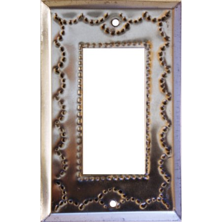 Tin Single Switchplate - Single Decora Silver Tin Switchplate