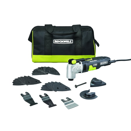 (Rockwell RK5142K Sonicrafter F50 4.0 Amp Oscillating Multi-Tool 33-Piece Kit with Bag, Variable Speed, Hyperlock Clamping, Low Vibration and Universal Fit System)