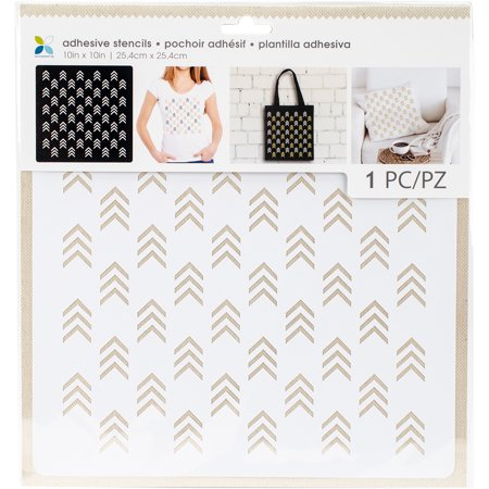 Momenta Adhesive Stencils 10 X10  Arrow Pattern