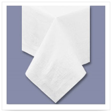 54 x 108 White Tablecover 2 Ply Tissue 1 Ply Poly/Case of 25 ()