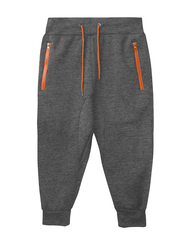 Mens Capri Joggers with Zipper Pockets Fleece Activewear Sports Shorts Pants