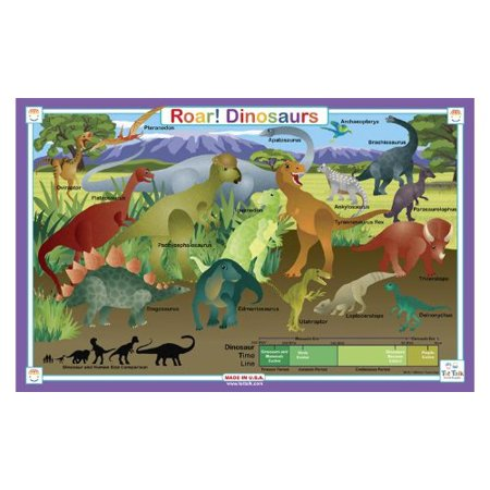 Placemat - Tot Talk - Roar! Dinosaur Meal Dinning Kids Mat -
