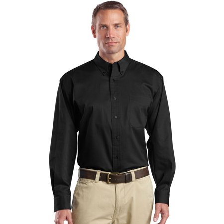 Cornerstone Men's Long Sleeve Superpro Button Down Twill Shirt 2 Button T-shirt
