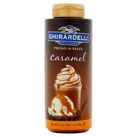 (2 Pack) Ghirardelli Chocolate Caramel Premium Sauce, 17 oz