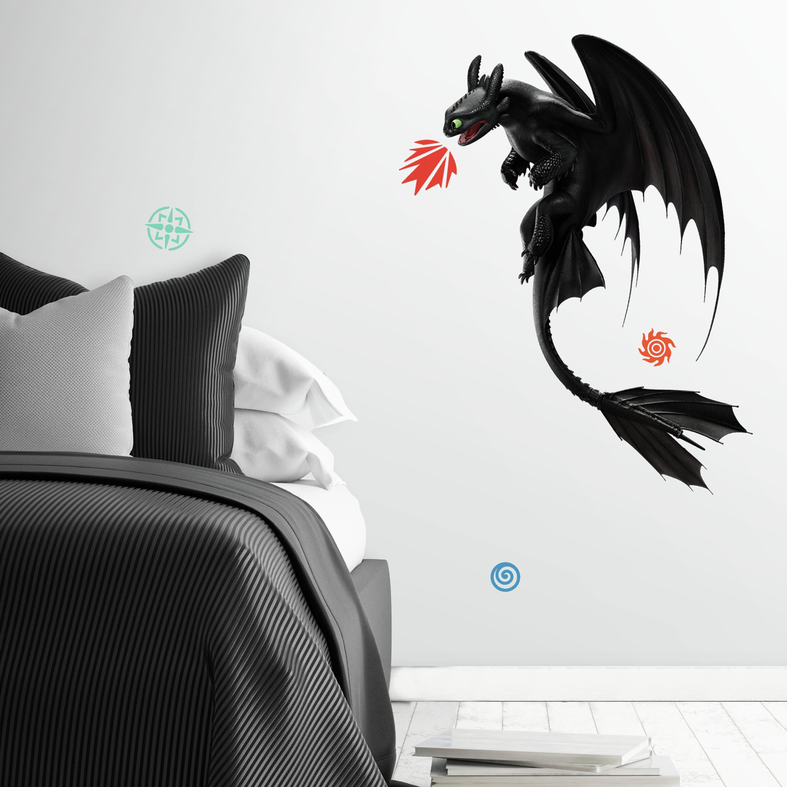 How To Train Your Dragon: The Hidden World Toothless Peel And Stick Giant Wall Decals