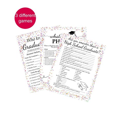 Graduation Party Game Bundle (Best High School Cross Country Times)