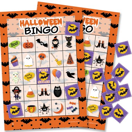 Halloween Bingo Game for Kids - 24 Players (Halloween Games For Outside)