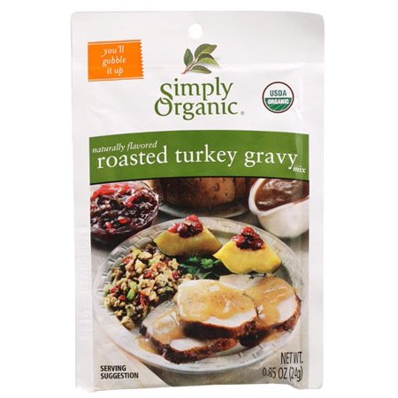 Simply Organic Roasted Turkey Gravy, Seasoning Mix, Certified Organic, 0.85 Ounce