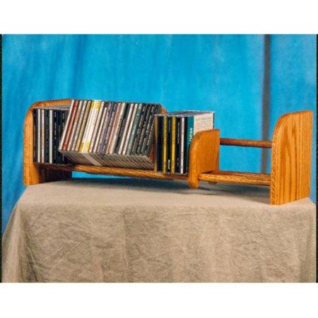Video Component Rack - The Wood Shed Solid Oak 1 Row Dowel 55 CD Media Rack