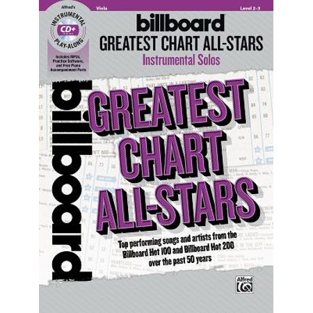 Billboard Greatest Chart All-Stars Instrumental Solos for Strings : Top Performing Songs and Artists from the Billboard Hot 100 and Billboard Hot 200 Over the Past 50 Years, Book &