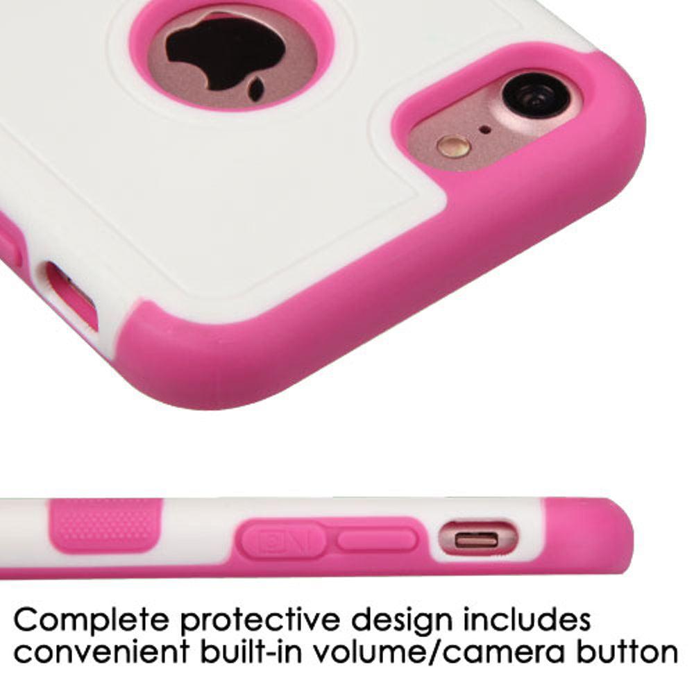 Insten Tuff Merge Hard TPU Case for Apple iPhone 7 - White/Hot Pink - image 1 de 3