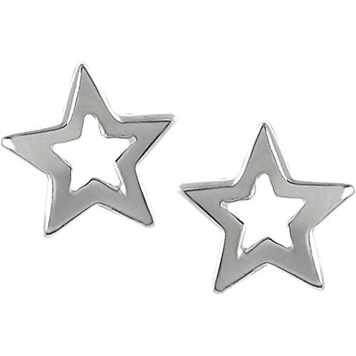 Brinley Co. Sterling Silver Star Stud Earrings