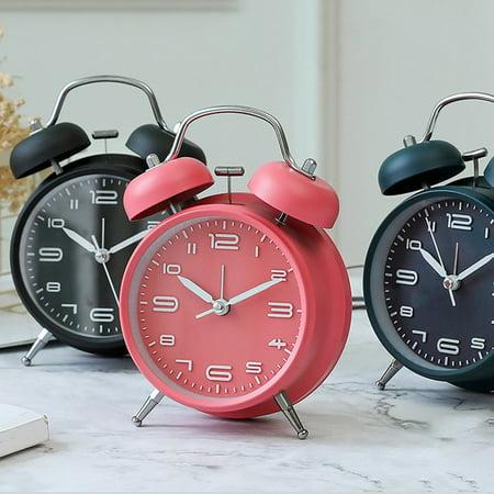 Creative Metal Alarm Clock with Night Light Mechanical Alarm Clock Fashion Multifunctional Personality Student Alarm Clock - image 4 of 6