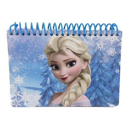 Disney Frozen Elsa Autograph Book Small Note Pad Memo Kids Disneyland Blue (Blue Notepad)