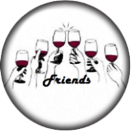 Snap button  Wine and Friends 18mm Cabochon chunk (Cabochon Wine)