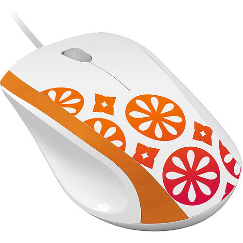 FileMate Imagine Series M2810 Wired Optical Mouse, Assorted Color Patterns