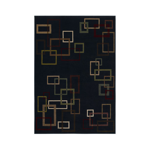 Shaw Rugs Inspired Design Cubist Black Rug
