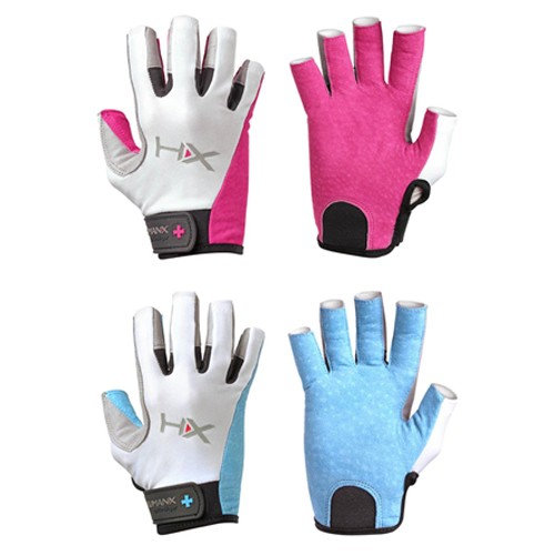 HumanX Women's X3 Competition 3/4 Finger Gloves, Blue/Gray/White, Large