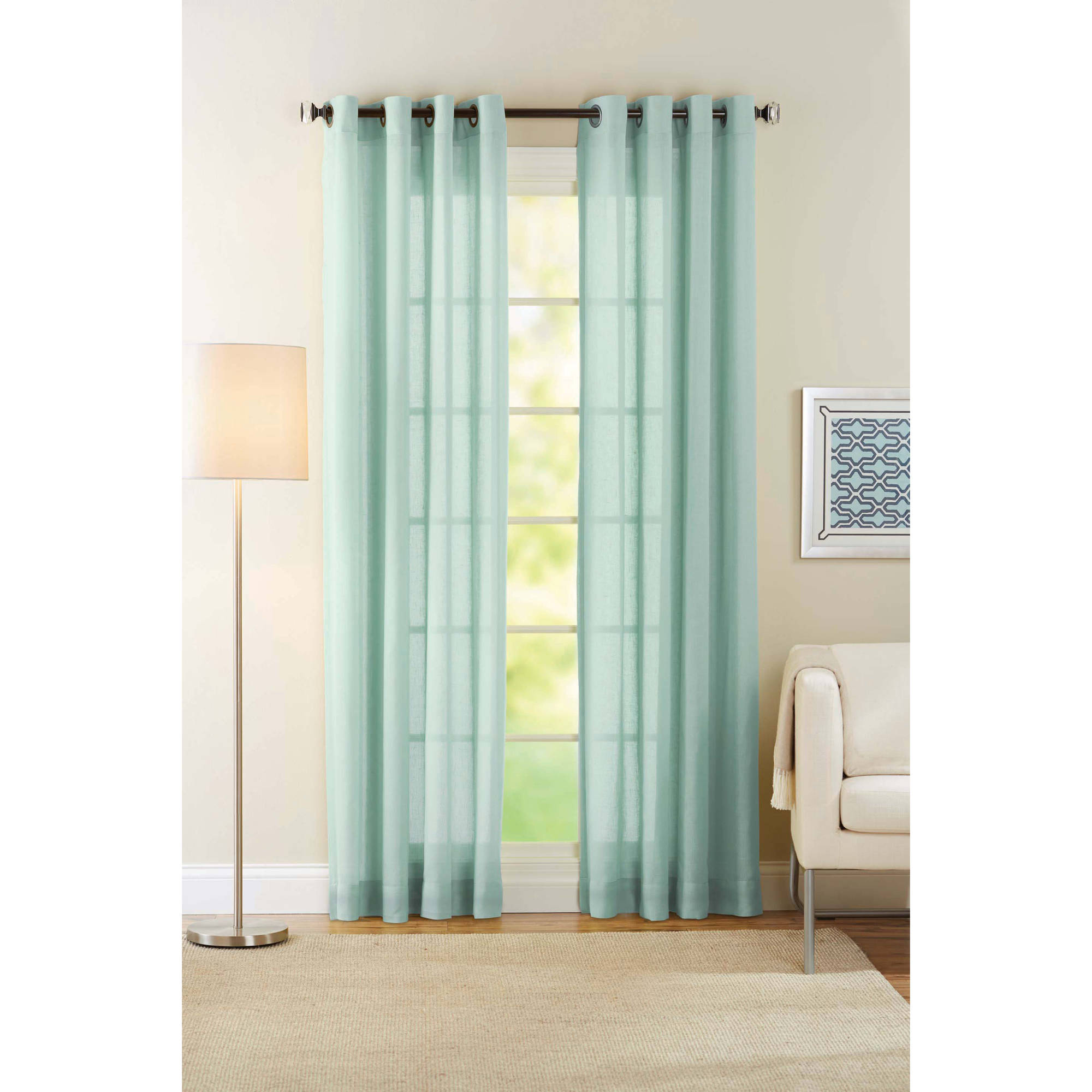 . Better Homes and Gardens Semi Sheer Window Curtain   Walmart com
