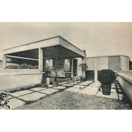 'Roof Garden of a Private House at Auteuil. Architects, Le Corbusier and Pierre Jeanneret', 1928 Print Wall Art By Pierre Jeanneret