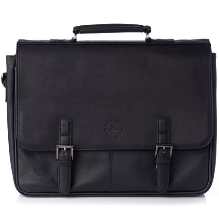 "Hammer Anvil Leather Briefcase up to 15.6"" Laptop Case Messenger Bag Portfolio (Victorinox Leather Briefcase)"
