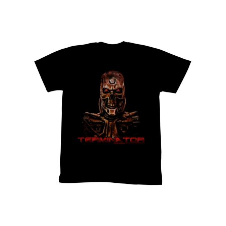 Terminator 1980's SciFi Action Movie Burnt Cyborg Adult T-Shirt (1980's Movies Halloween Costumes)