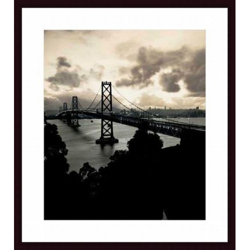Printfinders San Francisco-Oakland Bay Bridge, c. 1938 by Mansell Collection Framed Photographic Print
