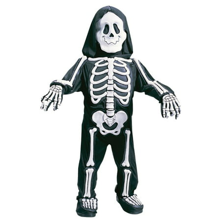 Fun World Toddler &  Boys White Skelebones Costume 3D Skeleton Jumpsuit - Skeleton Boy Costume