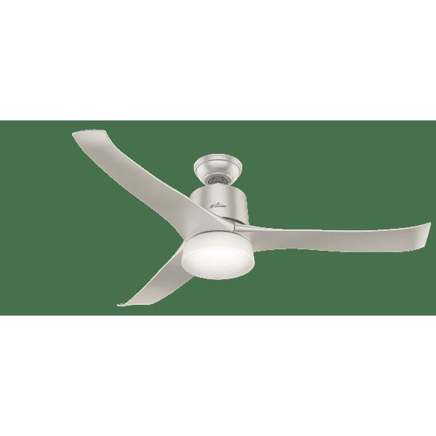 Hunter Wifi 54 Symphony Matte Nickel Ceiling Fan With Light Kit And Remote Walmart Com Walmart Com