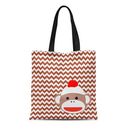 KDAGR Canvas Tote Bag 70S Sock Monkey Retro 1970S Products Reusable Handbag Shoulder Grocery Shopping (1970s Products)