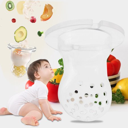 VGEBY 6Pcs Silicone Baby Feeding Nipple Infants Vegetables Fruit Pacifier Feeder Soother Holder, Silicone Feeding Nipple,Feeding Nipple