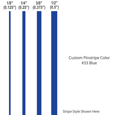 """1/8"""" inch wide Pinstripes. / BLUE / car truck auto vehicle door boat bike vinyl sticker pin strip pinstriping tape custom decal / By 1060 Graphics. for $<!---->"""