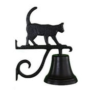 Montague Metal Products CB-1-81-SB Cast Bell With Satin Black Cat Ornament