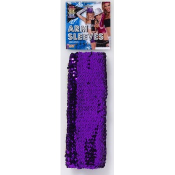 ARM SLEEVES-PURPLE SEQUIN