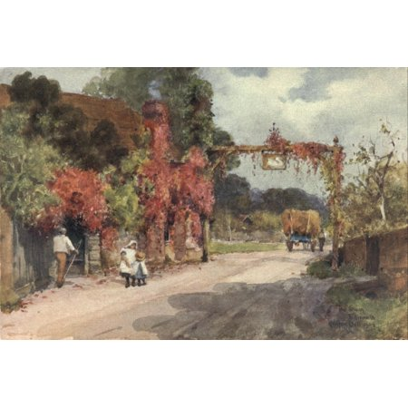 Sussex 1906 Swan Hotel Fittleworth Poster Print By  Wilfrid Ball