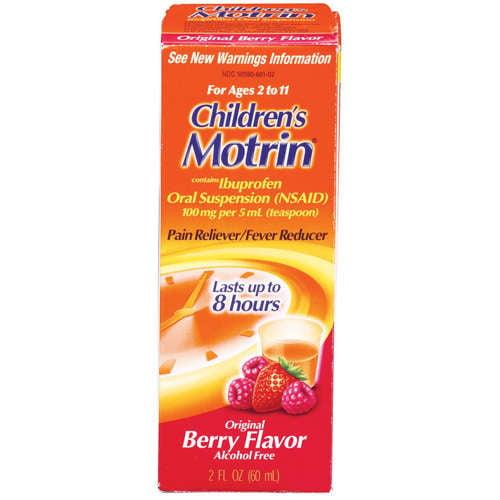 McNeil Motrin Children's Pain Reliever/Fever Reducer, 2 oz