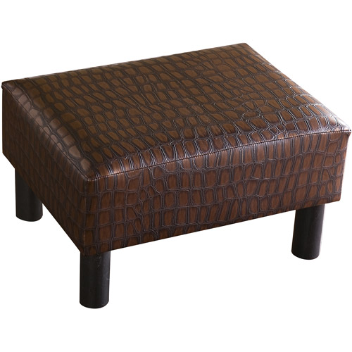 Alligator Print Foot Stool Walmart Com