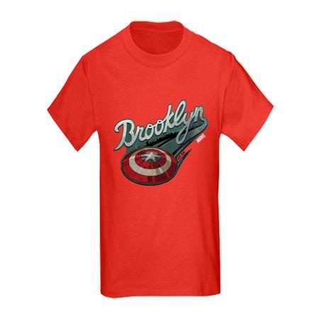 b4196e52 CafePress - CafePress - Captain America Brooklyn Shield - Kids Dark T-Shirt  - Walmart.com