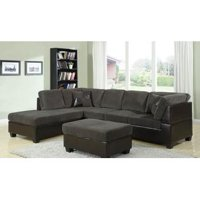 Kilia Sectional with Matching Ottoman in Dark Sage