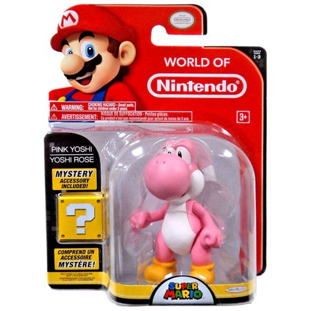 World of Nintendo Series 3 Pink Yoshi with Egg Action Figure