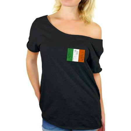 888fc0f2 Awkward Styles Cute Irish Flag Off Shoulder Shirt Irish Shirt St. Patricks  Day Ireland T-Shirt Irish Shirt Women St Patrick's Day Shirt for Women  Irish ...
