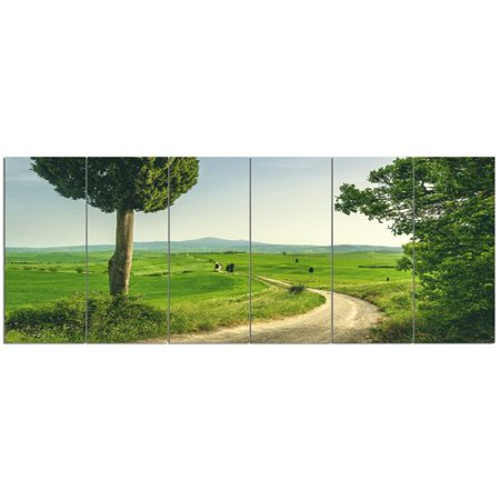 Design Art 'Tuscan Place in Rural Area'  6 Piece Photographic Print Set on