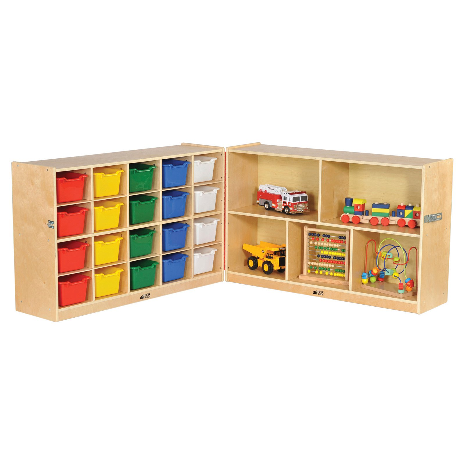 "Fold & Lock 15-Tray Cabinet and 30"" Storage with Bins"
